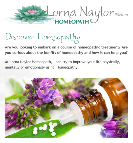 Lorna Naylor Homeopath - Homeopathic treatment and holistic medicine